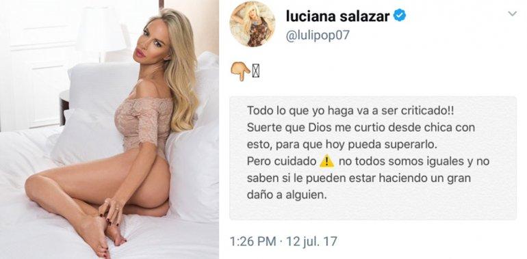 Luciana Salazar responde a las críticas: Suerte que Dios me curtió desde chica, pero cuidado...