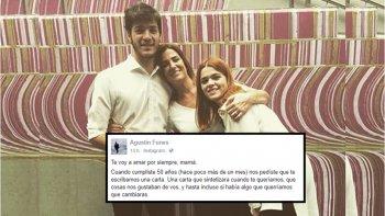 Emotiva carta del hijo de Débora Pérez Volpin: Te voy a amar por siempre