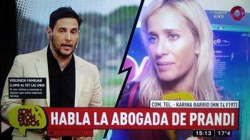 la abogada de julieta prandi hablo de la denuncia por violencia contra su ex marido: ella esta angustiada y tiene miedo